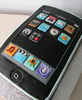 I-Phone Cake. My Dad would love it, LOL