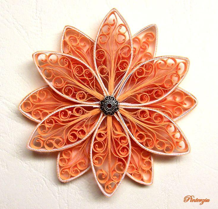 Quilled flower by pinterzsu.deviantart.com on @deviantART