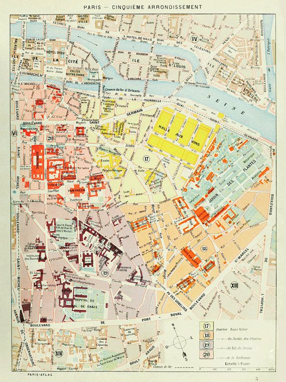 148 Best Maps Of Paris Images On Pinterest Books Drawing And: Paris 5th Arrondissement Map At Infoasik.co