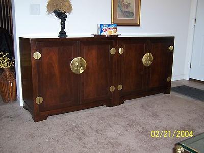 Sideboard Credenza Buffet Baker Furniture Asian Style 4053 Walnut Veneer |  EBay