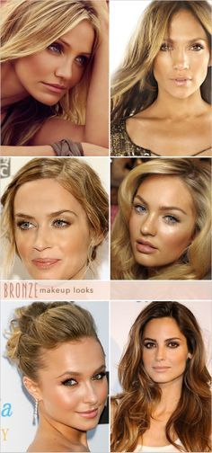 Bronze wedding makeup inspiration!