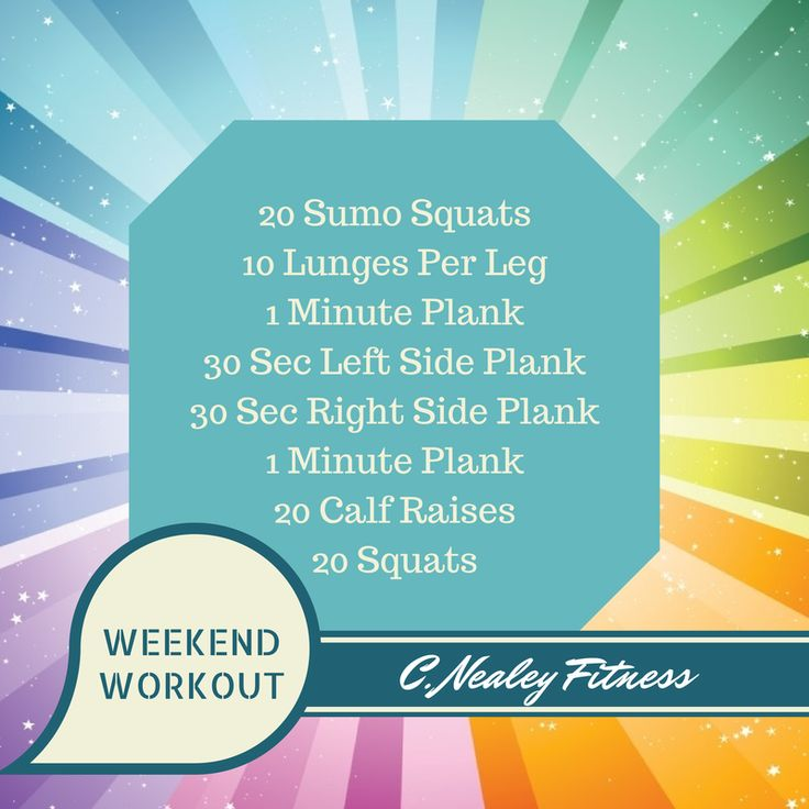 Weekend workout guide! Follow me for more weekend workouts!