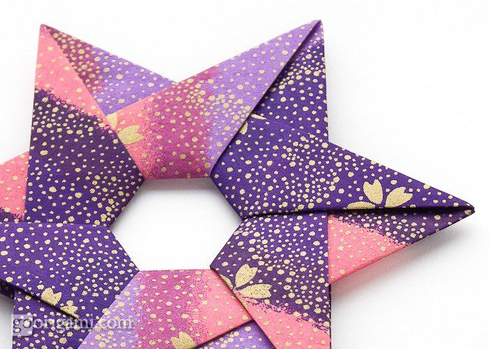 Hexa Origami Star by Francis OwCrafty Stuff, Origami Stars, English Paper, Quilt Projects, 16 Quilt, Hexa Stars, Paper Folding, Hexa Origami, Crafts Origami
