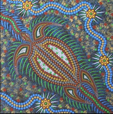 One of the amazing things about indigenous art is the way the artists so often illustrate the connectedness of all things