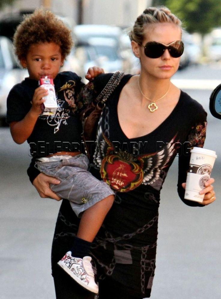 Heidi Klum and kids spend the day running errands – Moms & Babies ...