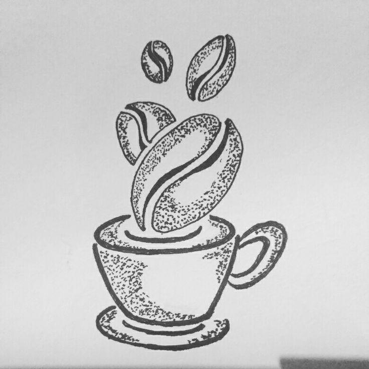#sketch #coffee #tattoo #design #pointilisme ☕☕☕