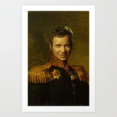 Call Me Admiral! WIllam Shatner / Captain Kirk Digital Oil Painting replacement face Art Print by Particularly Peculiar - $15.60 #startrek #captainkirk #kirk #spock #enterprise