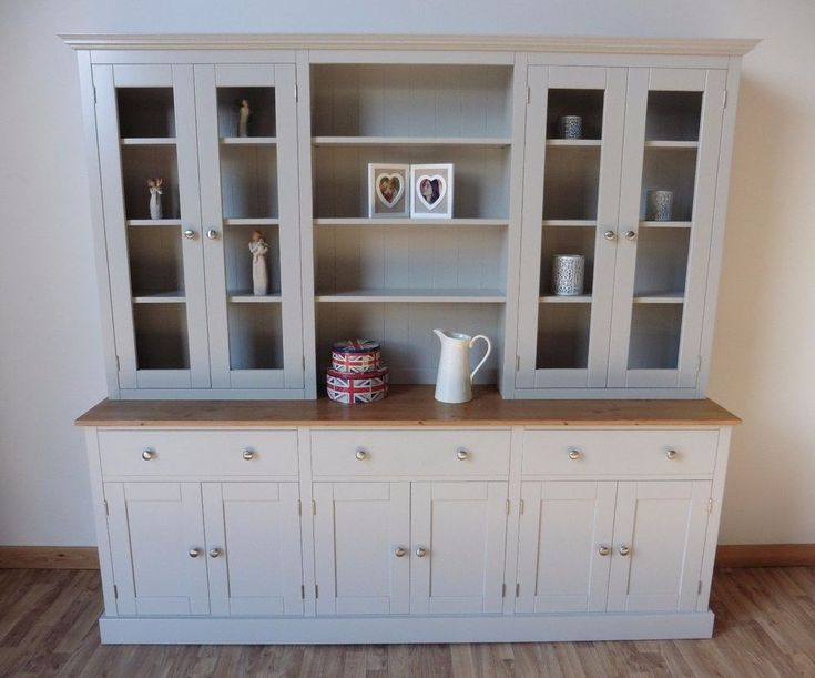 New Solid Pine 7ft Painted Welsh Dresser,dinning/kitchen Unit In Any F&B Colour in Home, Furniture & DIY, Furniture, Cabinets & Cupboards | eBay!