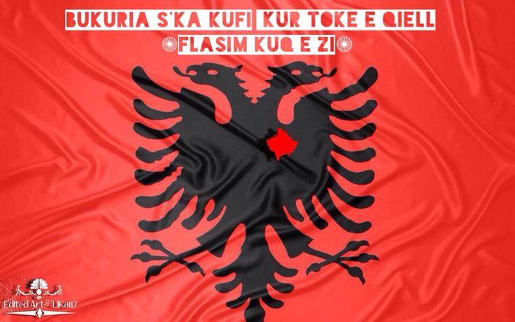 "Albanian Flag - Flamuri Shqiptar ""Albanian Eagle with Kosovo in his Heart"" Edited art by LiKa117"