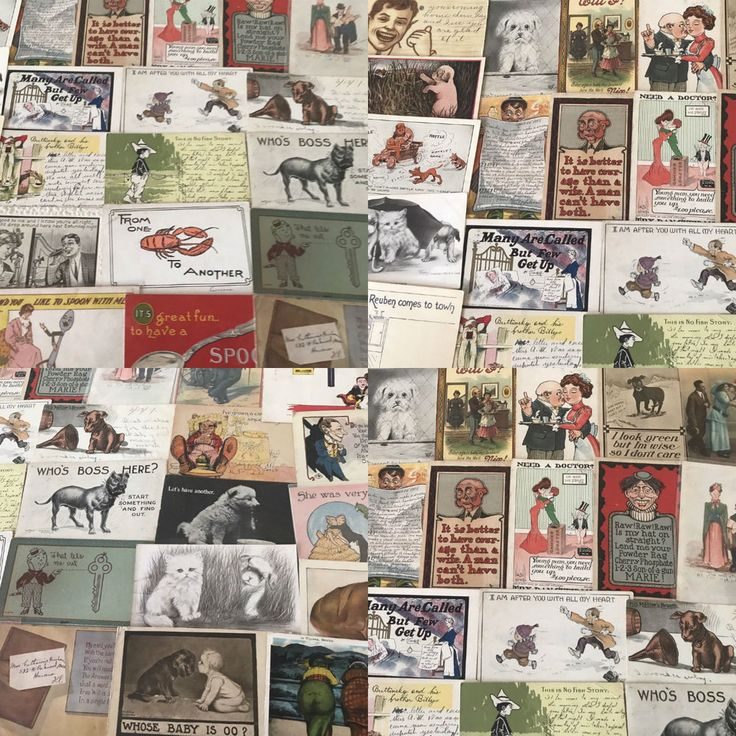 BIG LOT OF OLD ANTIQUE COMIC HUMOR funny ~POSTCARDS-1900's-p-48