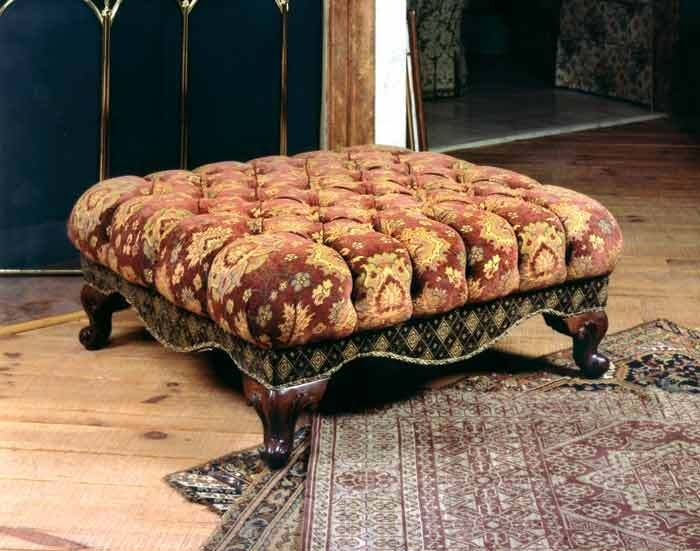 Queen's tufted ottoman from Victorian Trading Co.
