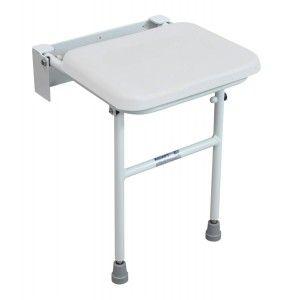 Padded Folding Shower Seat - White