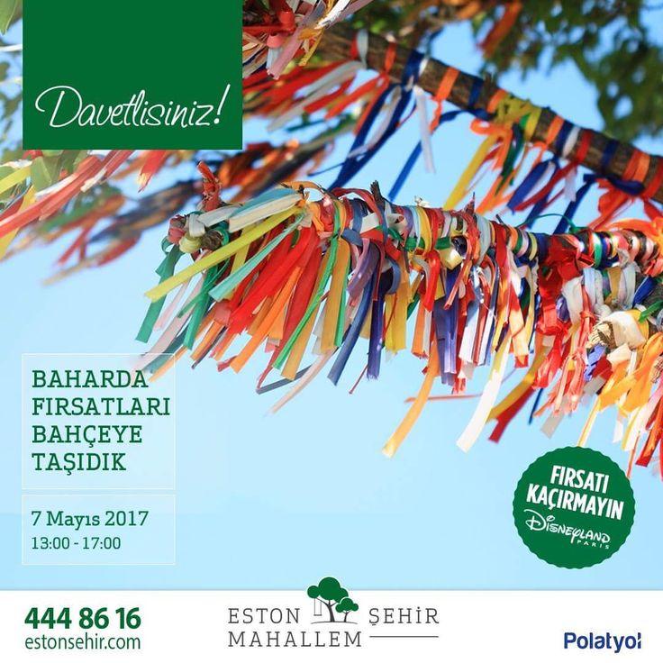 Mayıs ayında fırsatları Bahçe'ye taşıdık! Sadece 7 Mayıs Pazar gününe özel kampanyamız ile Paris Disneyland seyahati kazanabilirsiniz. Bahar şenliğimize davetlisiniz. #EstonŞehirMahallem #Bahçeşehir #EstonŞehir