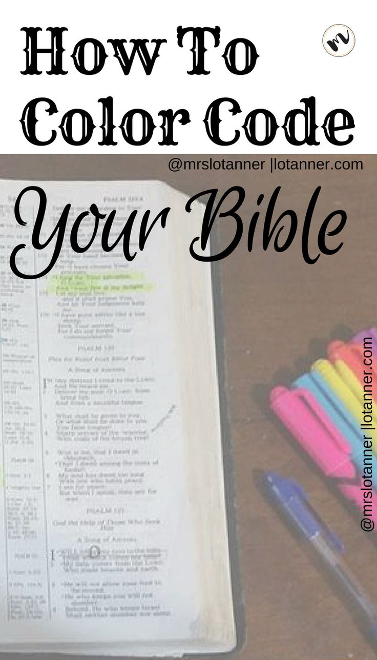 Learn how I use color to enhance my personal Bible study + download my free Color Code Bible Key and see how well this method works for you! @mrslotanner http://lotanner.com/color-code-bible