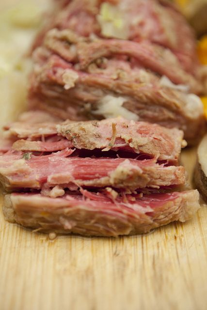 Slow Cooker Corned Beef Brisket, a favorite for holiday dinners or special dinner nights. This beef brisket is moist!  Be sure to check out my other pin for leftover Brisket sandwiches!