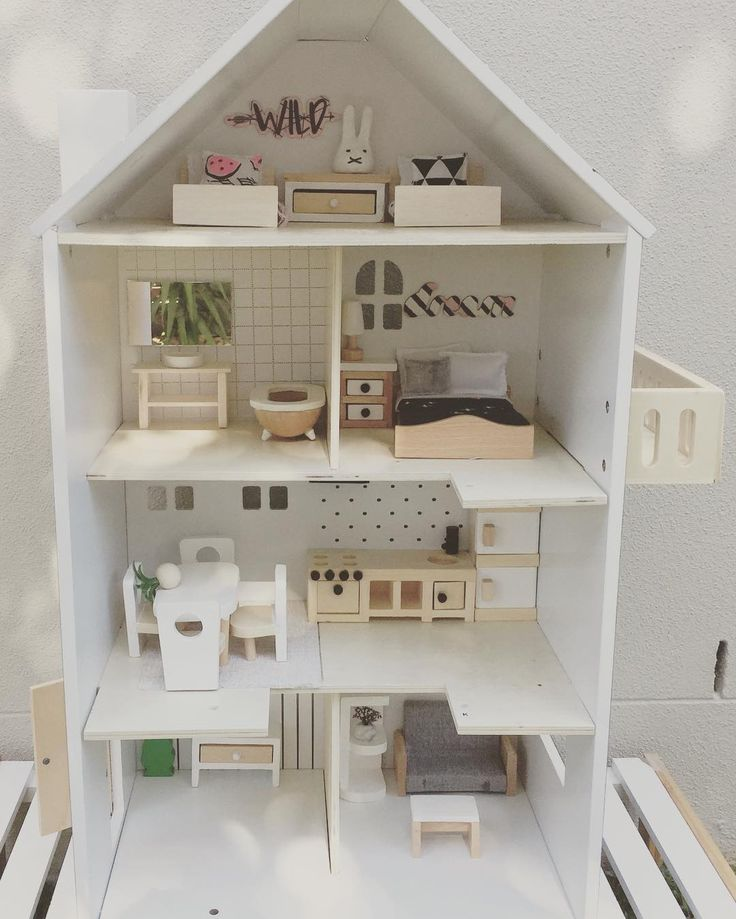 196 best diy kids images on pinterest activities for for Big modern dollhouse