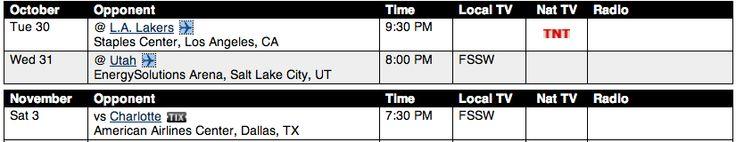 The Regular Season Begins Tuesday Night!  (Dallas Mavericks 2012-2013)  #mavs #letsgomavs #mavsnation #MFFL