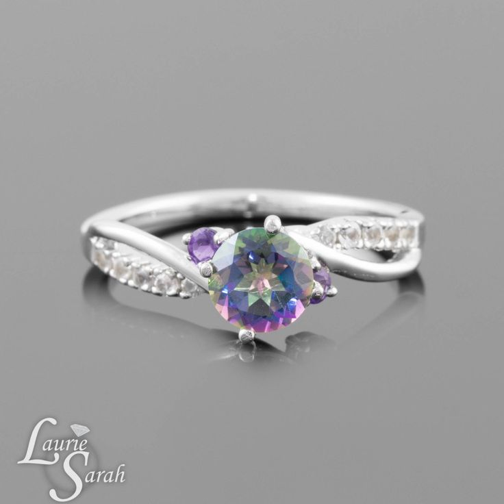Mystic Topaz Ring Rainbow Mystic Topaz Ring by LaurieSarahDesigns, $799.50