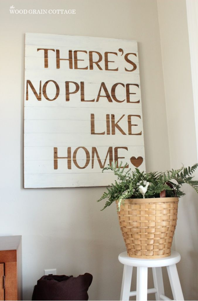 DIY Sign | The Wood Grain Cottage....this becomes especially true as a military family
