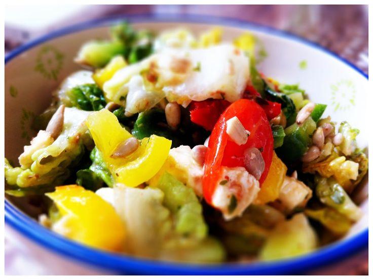 Salat Honig-Senf-Dressing vegetarisch