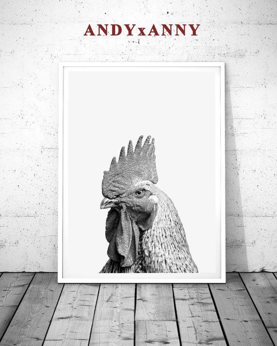 US$5.89 Farm Prints, Chicken Print, Rooster Print, Farm Animal Print, Gift Art, Chicken Poster, Farm Animal Art, Farm Wall Prints, Rooster Poster  Farm Prints Chicken Print Rooster Print Farm Animal by ANDYxANNY