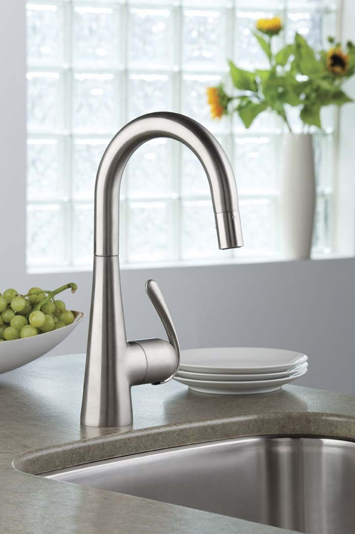 the fixture gallery grohe ladylux 3 main sink dual spray pulldown kitchen faucet wide head