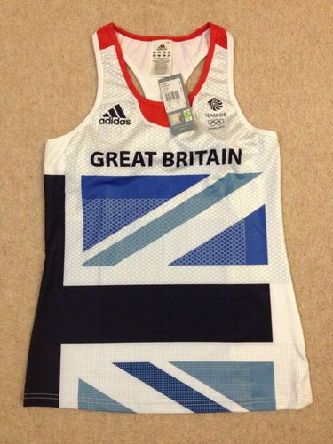 Adidas London Olympics 2012 Team GB womens running shimmel vest Size 12 BNWT top