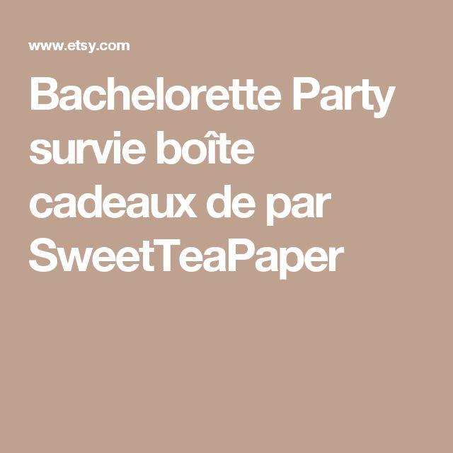 Bachelorette Party survie boîte cadeaux de par SweetTeaPaper