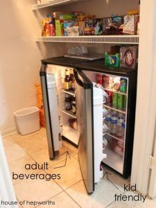 Put A Mini Fridge In Standard Base Kitchen Cabinet
