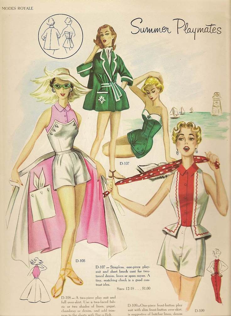 @Jaime 1950s Sewing Pattern PDF Vintage MODES ROYALE Strapless Playsuit Bathing Suit with Boning  Sz 12 Bust 30 Printable Pdf Copy Digital Downloa. $16.00, via Etsy.