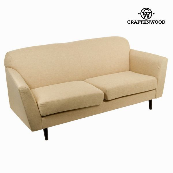 3 Seater Sofa Beige 193 X 83 X 86 Cm Love Sixty Collection By Craftenwood 3 Seater Sofa Beige 193 X 83 X 86 Cm Love Sixty Collect