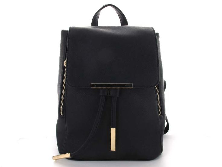 Black Bucket Backpack with Drawstring Closure - An expandable bucket-style backpack with a magnetic snap and drawstring closure, keeping items safe and secure. The straps are adjustable to fit any style - wear it slung over one shoulder, over both shoulders, or carry it as a handbag using the top handle.   Available in; Black and White.