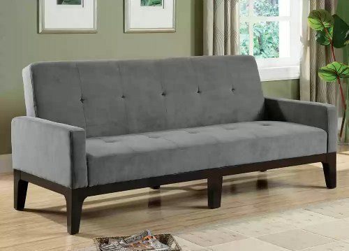 gray microfiber sofa bed by coaster by coaster home furnishings fabric sofa