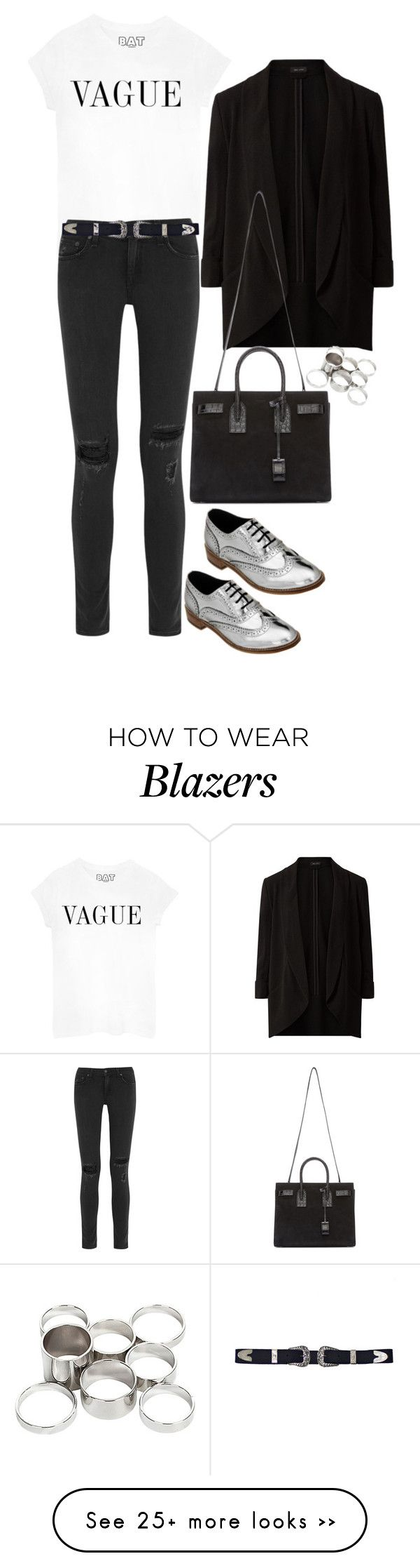 """""""Silver Brogues with Luke Grant Muller"""" by samikayy76 on Polyvore featuring rag & bone, Yves Saint Laurent and Missguided"""