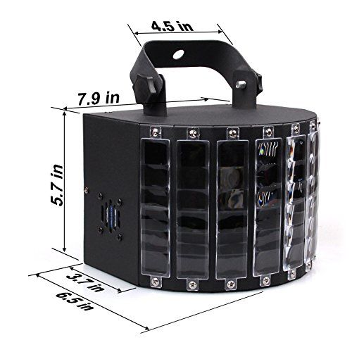 Amaz-Play Stage Lighting Club Party Dance DJ Disco Lights with 27W 9 Colors Effect by Remote Control Color Black