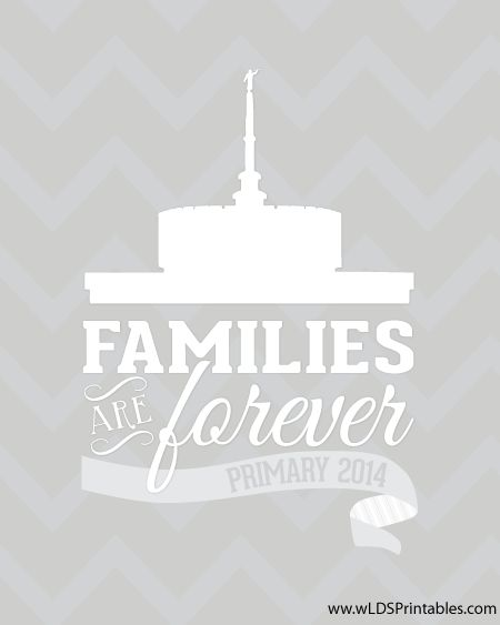 New Temple available: Families Are Forever - Primary 2014 Theme. Provo LDS Temple 16x20 free print.