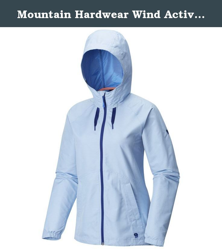 Mountain Hardwear Wind Activa Jacket - Women's Bright Island Blue Large. From the trails to the pavement, yoga studio to the coffee shop, this jacket is the ultimate soft-shell. Wind-resistant, breathable, flattering and stylish, you'll be ready to take the world by storm.