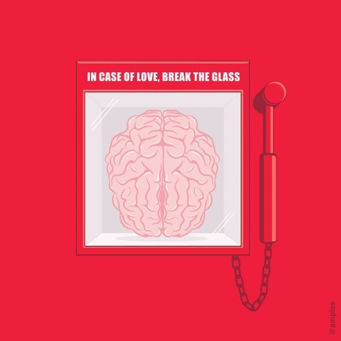 """In case of love, break the glass"": Giggle, Stuff, Glass, Shirt"