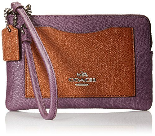 Coach Multi Coloblock Corner L-Zip Wristlet Wallet Style No. 65141