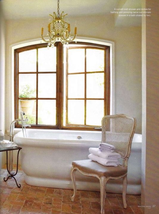 Bath w floor salvaged from chicago bldgs and installed to for Floor and decor chicago