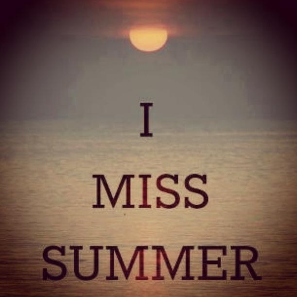 I miss summer :(