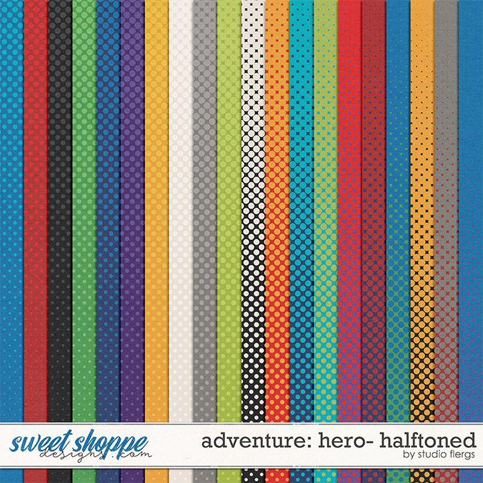 Adventure: Hero- HALFTONED by Studio Flergs