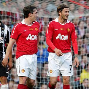 it was great watching Beckham play with Man U