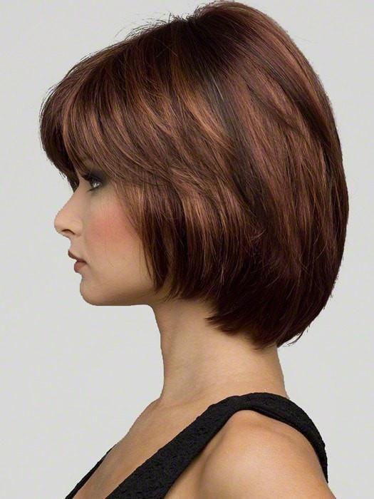 Haley   Synthetic Wig (Mono Top) Envy Haley : Left Profile   Color Cinnamon-Raisin