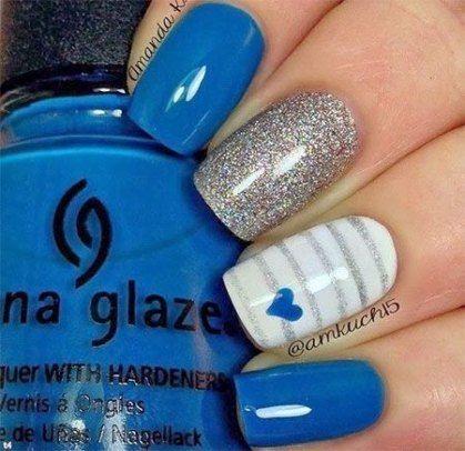 61 Ideen Nägel blau königlich einfach – #blau #einfach #ideen #koniglich #nag