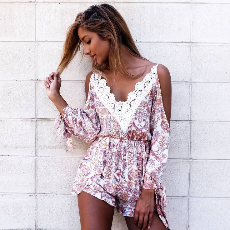 Spring prints & easy to wear styles for the win | POETIC GIRL playsuit, $60 WWW.MISHKAH.COM.AU xx
