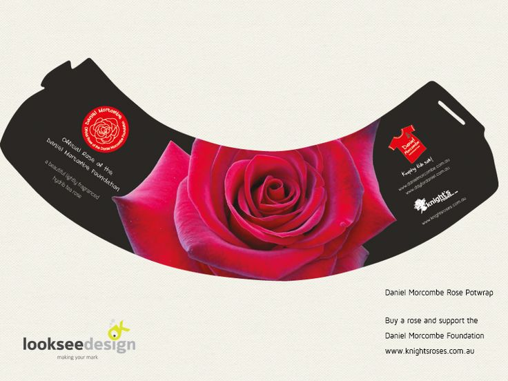 Daniel Morcombe Rose Pot Wrap - Designed by Looksee Design