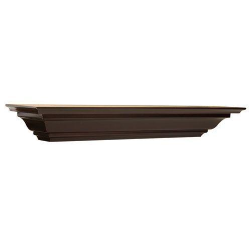 Woodland Products Crown Molding Shelf Bellacor.com Espresso Crown Molding Shelf, 5 x 24 x 4-Inches