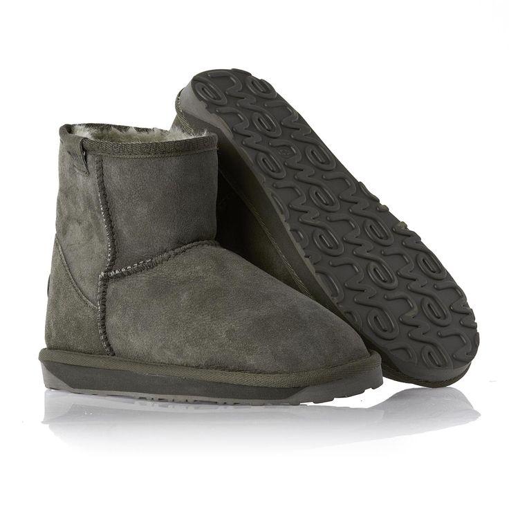 Emu Stinger Mini Sheepskin Boots - Charcoal | Free UK Delivery