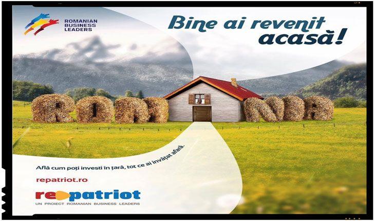 """Repatriot.ro : """"Noi trebuie să mai emigrăm odată, să ne întoarcem acasă"""".Romanian Business Leaders, o importanta fundatie ce reuneste antreprenori si lideri din diverse domenii de afaceri, contribuitori importanti atat pentru economia locala cat si pentru bugetul de stat, a initiat un proiect intitulatRePatriot, un proiectde repatriere prin antreprenoriat, adresat românilor din Diaspora. Repatriot.ro :…"""